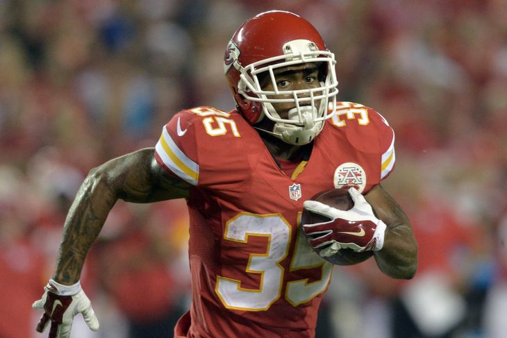 Kansas City Chiefs running back Charcandrick West rushed for 110 yards and a touchdown.