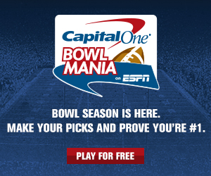 Play in the Fantasy News Hour-KTLT Capital One Bowl Mania challenge.
