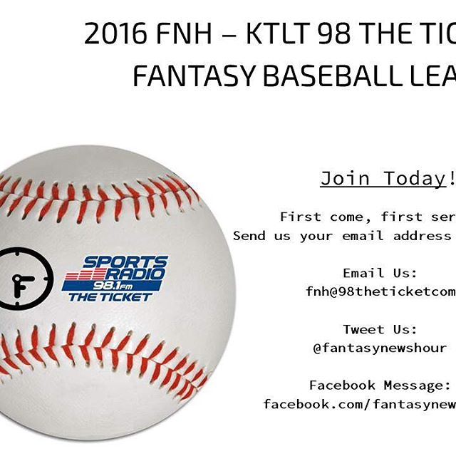 The league is filling fast. Let us know if you want in. #fantasybaseball