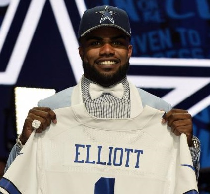 Ezekiel Elliott, RB-Dal, is the top-rated fantasy football rookie running back and a likely 1st round pick in 2016 fantasy drafts.