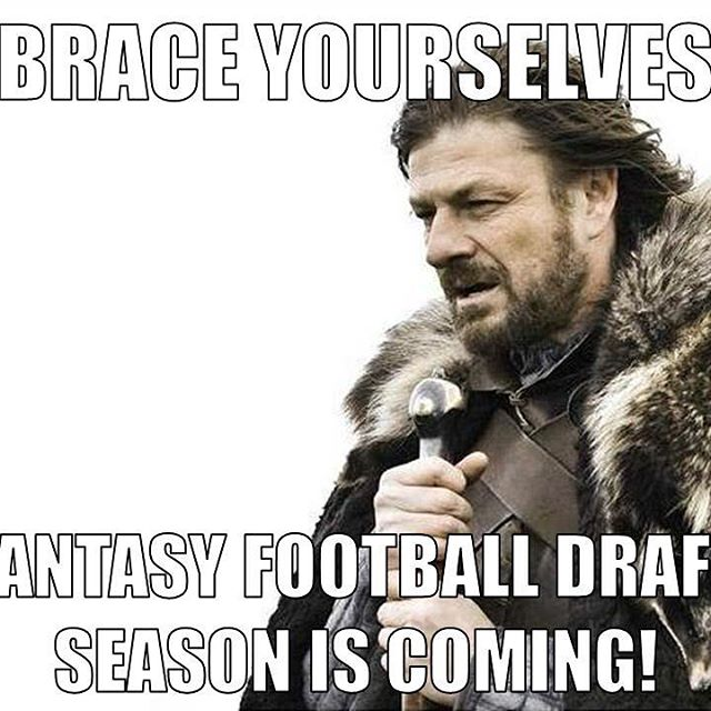 Ready or not, here it comes... #fantasyfootball #fantasyfootballdraft #fantasyfootballseason