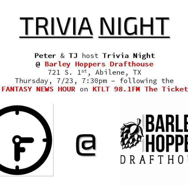 We're hosting #Trivia Night at Barley Hoppers Drafthouse, Thurs, 6/23, 7:30pm. Good food, craft beer, and win $.