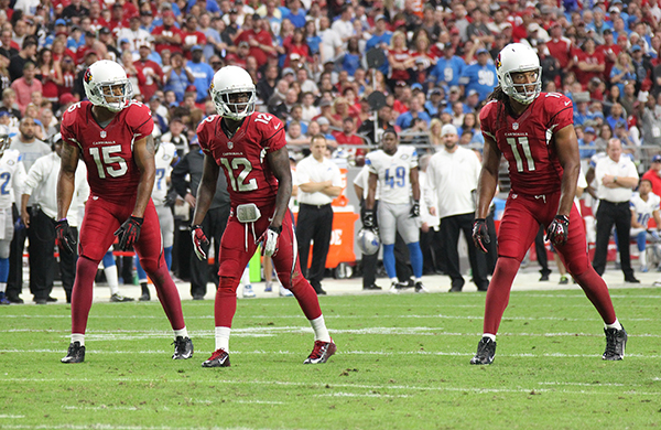 The Arizona Cardinals wide receiver trio of Michael Floyd, John Brown, and Larry Fitzgerald are all good fantasy football options for 2016 depending on where you are able to draft them.
