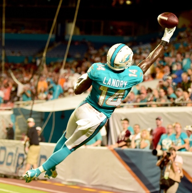 Jarvis Landry (WR-Mia) is a PPR (point per reception) machine and is a high-floor receiver to take in your fantasy football draft.