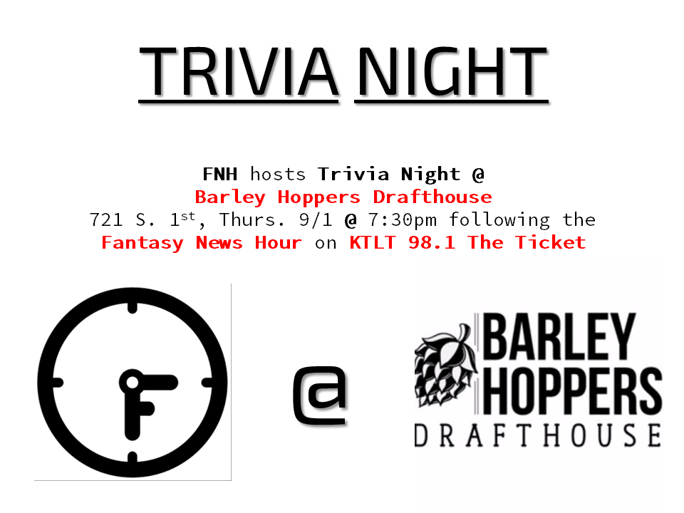 We will be hosting Trivia Night at Barley Hoppers Drafthouse tonight, 7:30pm.