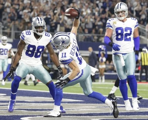 Cole Beasley (WR-Dal) and Jason Witten (TE-Dal) are both discount DFS plays on DraftKings for week one of the 2016 fantasy football season.