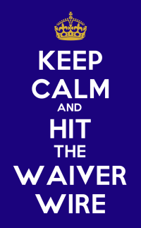 Keep calm. It's just week one of the 2016 fantasy football season, and you can hit the waiver wire.
