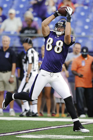 Dennis Pitta (TE-Bal) is a top fantasy football waiver wire add for NFL week 3.