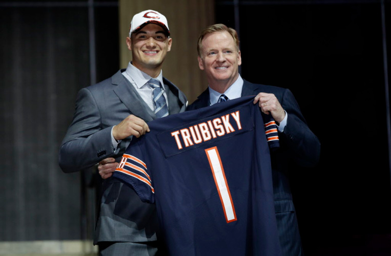 Mitchell Trubisky (QB-Chi) was the second pick of the 2017 NFL Draft.