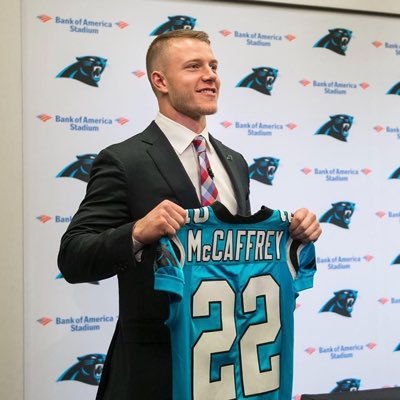 Christian McCaffrey (RB-Car) could be the first rookie drafted in 2017 fantasy football leagues.