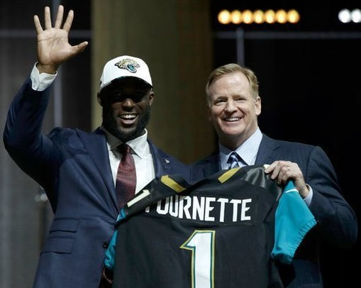 Leonard Fournette (RB-Jax) was the 1st pick in the Fantasy News Hour 2017 fantasy football dynasty league rookie mock draft.