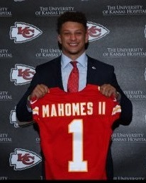 Patrick Mahomes (QB-KC) was the 4th pick of the second round in our rookie dynasty league draft.