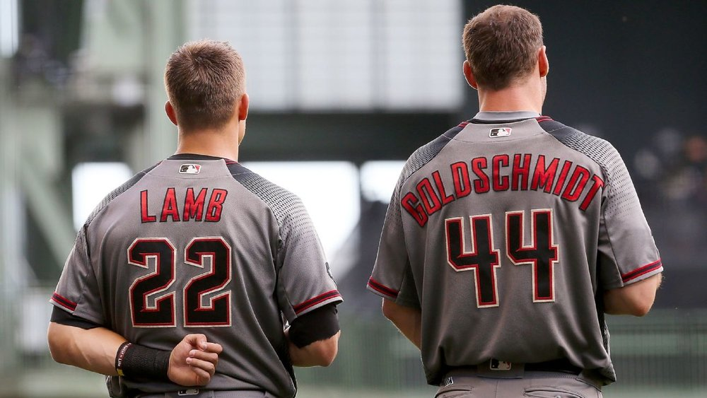 Jake Lamb (3B-Ari) and Paul Goldschmidt (1B-Ari) are on our Fantasy Baseball All-Star Team through June 1, 2017.
