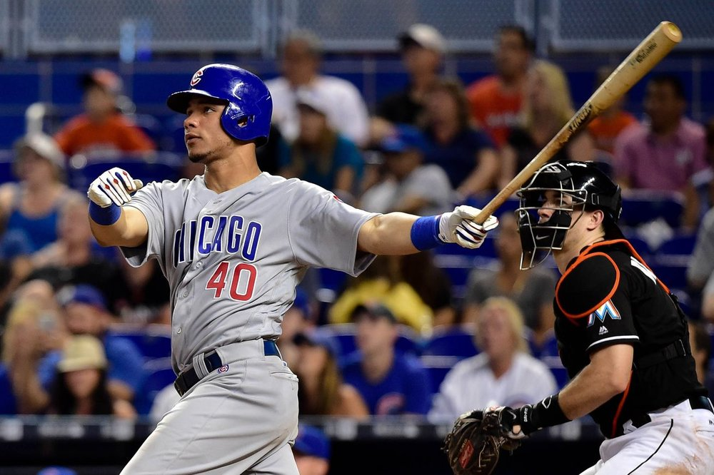 Contreras hits, while Realmuto watches