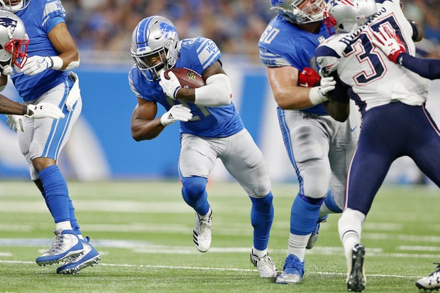 """Mr.Flex"" Theo Riddick should be very involved Sunday against the high-powered Falcons."