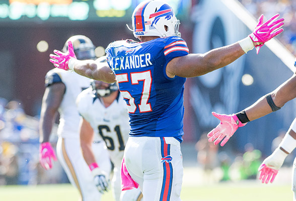 Lorenzo Alexander has lead the Bills to a top 5 Fantasy defense thus far.