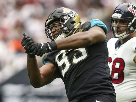 Calais Campbell and the Jaguars Defense are going against a Chargers O-line that has only allowed 11 sacks all year.
