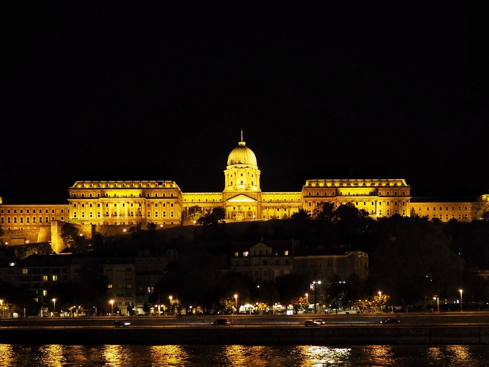 Buda Castle at night during the scenic evening cruise (PHOTo BY BIANCA BUSTOS-VELAZQUEZ)
