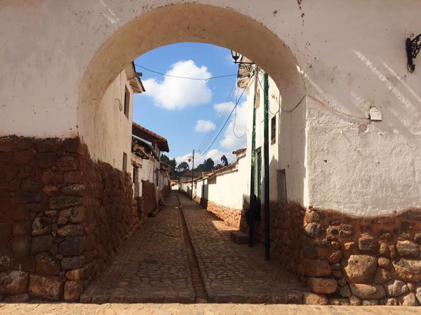 An archway to the unknown! One of the many beautiful walkways that meander through the villages of South America. From here you can smell traditional cooking and hear the shouts of little children playing football in the distance.