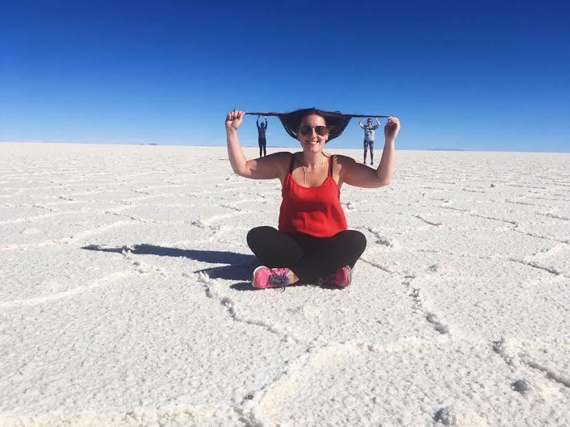 These salt flats stretched as far as the eye can see in Chile, look for long enough and you need to have a sit down!