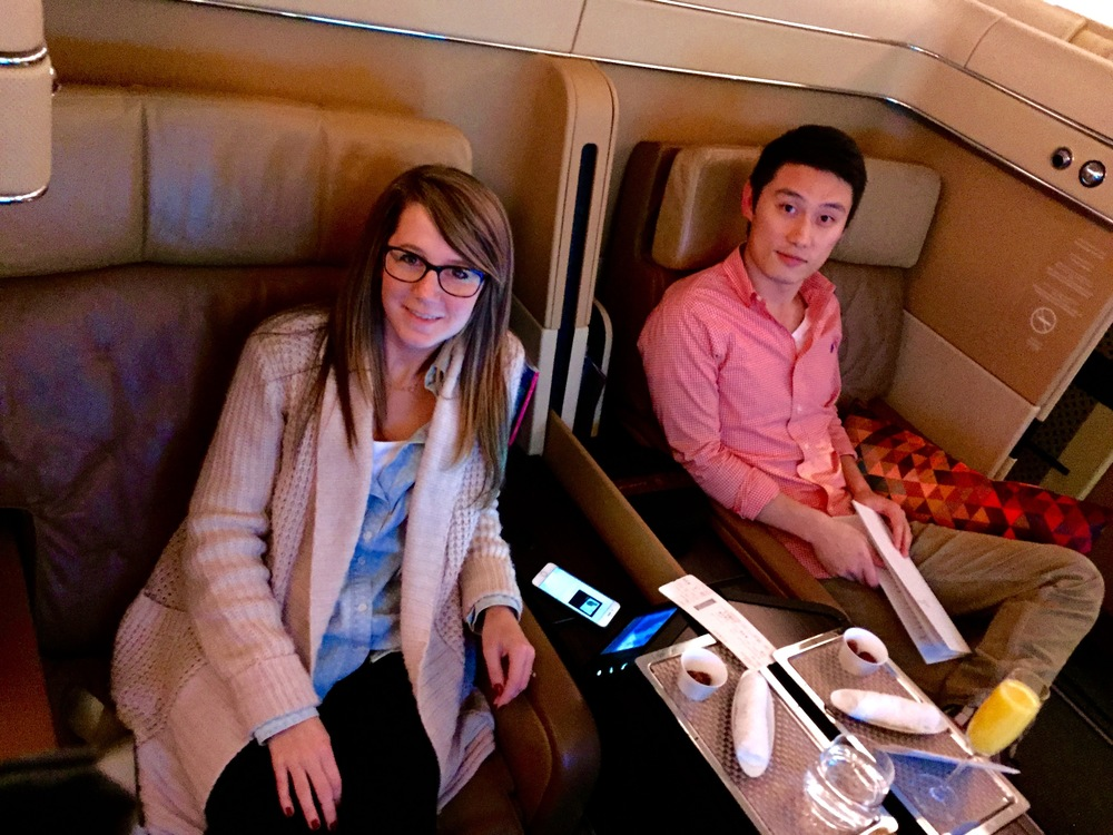 Our luxury travel advisor, Hao Tang, en route to Abu Dhabi and Dubai in First Class Suites for Christmas!