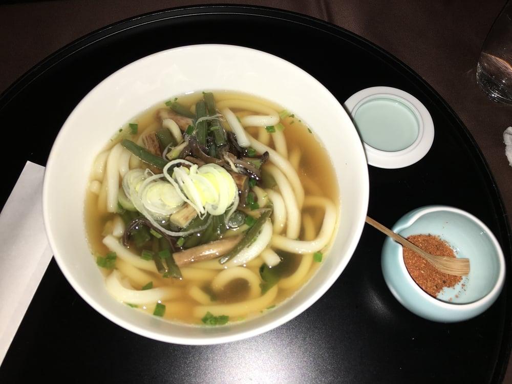 Udon Noodles. Mid flight snack.