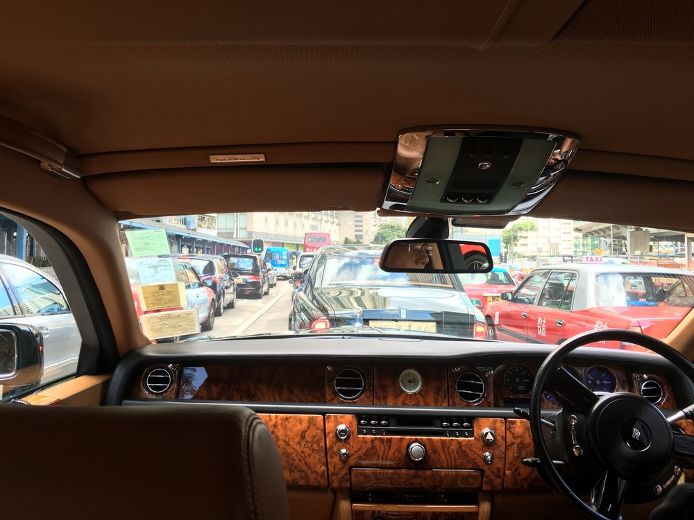 If one must be stuck in traffic, be stuck in a Rolls Royce!