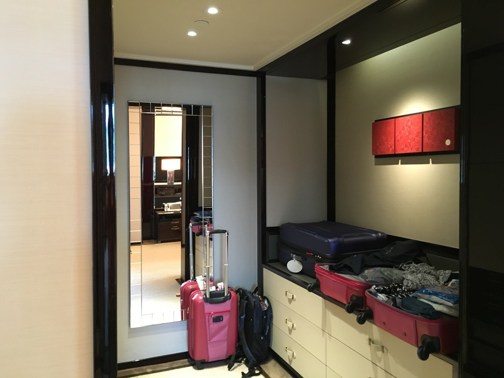 To our surprise, the Deluxe Suite closet was smaller than the Superior Suite's (it was huge!)