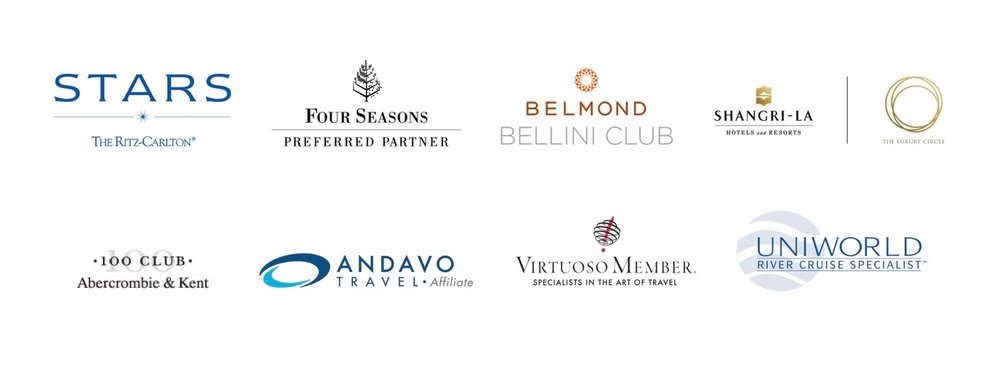 We offer our clients a variety of luxury travel services and benefits, including access to exclusive perks. As a Virtuoso Member, we're able to offer VIP perks that help enhance your luxury vacation. We're also a Four Seasons preferred Partner, which gets our luxury travelers exclusive benefits at access to benefits at 97 Four Seasons Resorts and Hotels around the world.