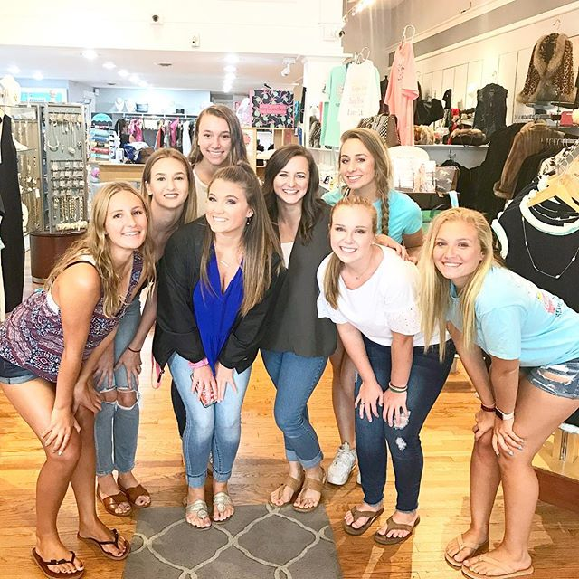 So so thankful for my spokesmodel team!! We are missing three girls here but the rest of us had such a good time today!  Sunday is our official #2018spokesmodelsofahp styled shoot and @bashboutiqueva is providing beautiful outfits for each gal!  I was already looking forward to this shoot but after seeing the stunning items that each girl will be wearing, I'm even more excited!  We spent two hours together this morning pairing outfits and styling the perfect look and all I can say is that Sunday is going to be SO good yall!!! 🎉 #abbyhudsonphotography (And thank you to @_hannahcarson_ for hanging out with us and snapping this photo!)