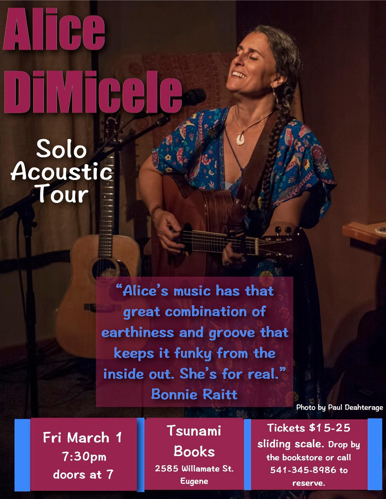 CANCELLED DUE TO SNOW/RESCHEDULED TO FRIDAY MAY 31 Singer/Songwriter