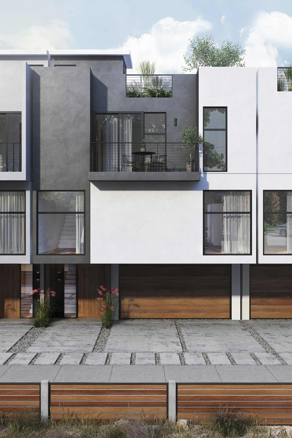 Carmen Residences - The small lot subdivision project is a new development in Hollywood, CA. The proposal includes four new, luxury townhouse-style single family residences.