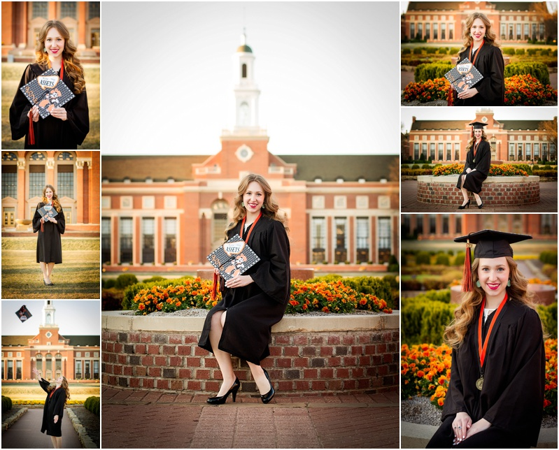 stillwater oklahoma 74074 oklahoma state university senior portrait photographer captured by karly cap and gown senior portraits