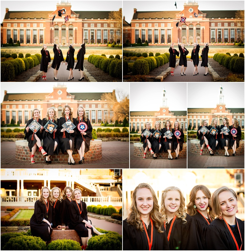 stillwater oklahoma 74074 oklahoma state university senior portrait photographer captured by karly cap and gown group best friend senior photos