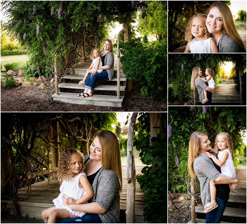 family mother daughter portraits taken at oklahoma state university botanical gardens in stillwater oklahoma by captured by karly photography