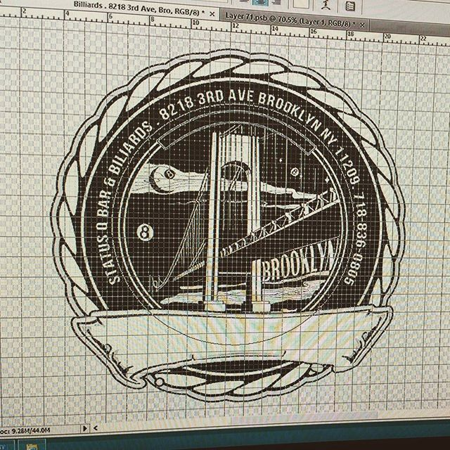 Working on our new logo. Any suggestions? #statusq #logo #photoshop #adobephotoshop #adobe #adobeillustrator #statusqbilliards #sportsbar #bar #lounge #billiards #pool #brooklyn #newyork #ny #bk #8ball #9ball #10ball #apa #apaleague #poolleague #snooker #shanevanboening #efrenreyes #earlstrickland #beer #brooklyndive #brooklynbar #brooklyndive