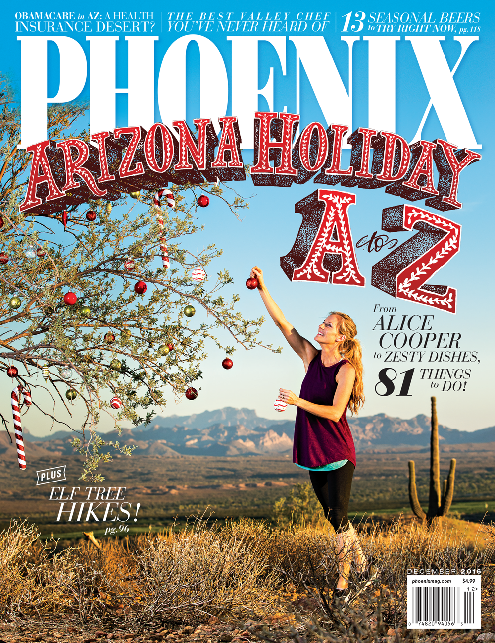 PHOENIX MAGAZINE  COVER   Hand-Lettering,  video editing       |      November 2016