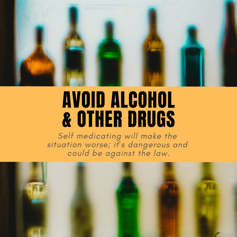 """Avoid Alcohol & Other Drugs - When teenagers are struggling with emotional problems, they often turn to alcohol or drug use to help them manage painful or difficult feelings. In this they are not different from adults.But because adolescent brains are still developing, the results of teenage """"self-medication"""" can be more immediately problematic.In the short term, substance use can help alleviate unwanted mental health symptoms like hopelessness, anxiety, irritability and negative thoughts. But in the longer term it exacerbates them, and often ends in abuse or dependence.Learn more:http://ow.ly/5g3f50jYtTQ"""