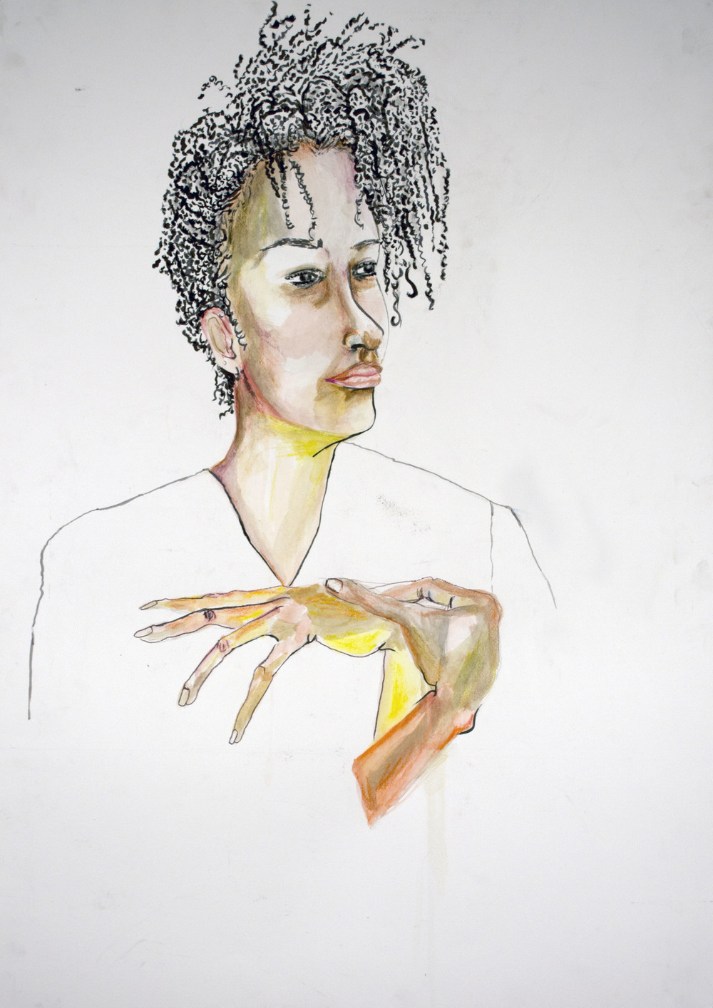 8. Egon Schiele Inspired Self Portrait.jpg