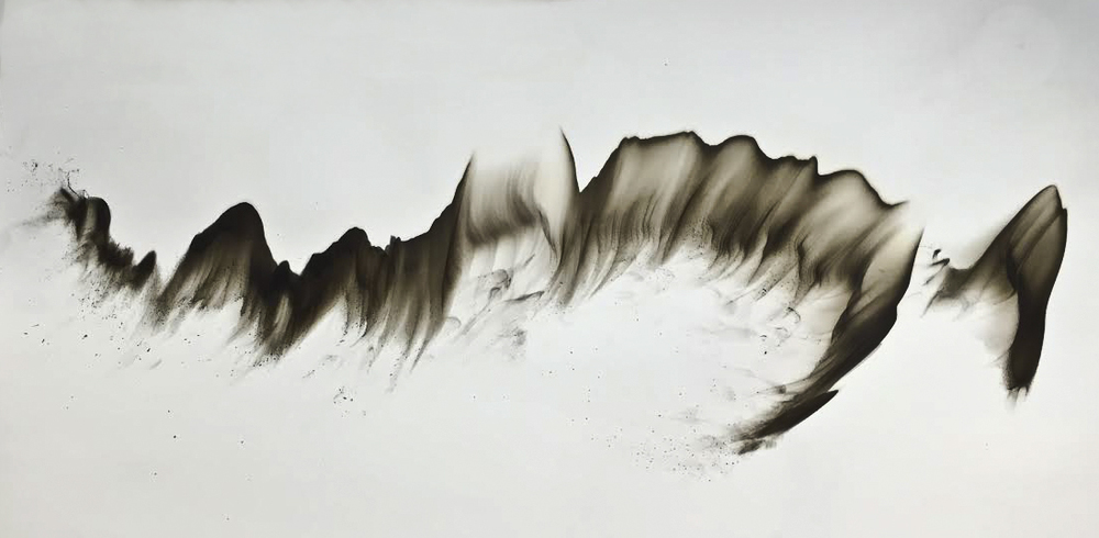 "Untitled 201  48"" x 48""  Smoke On Paper"
