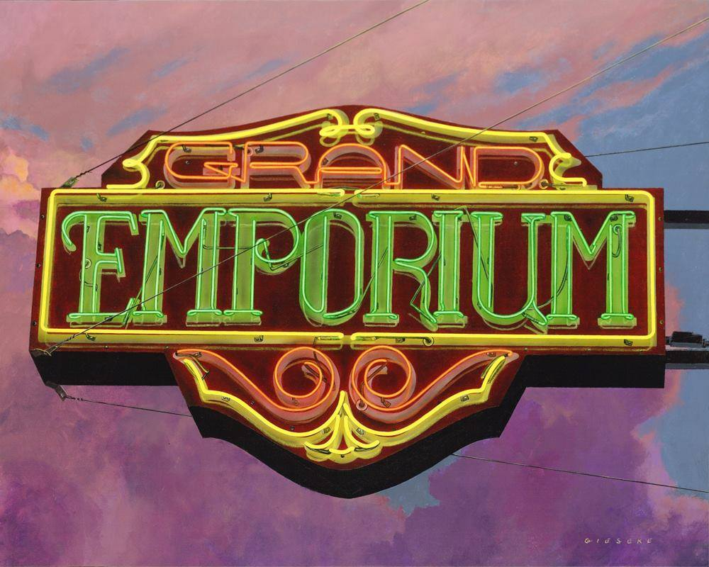 "Grand Emporium  30"" x 24""  Acrylic on Canvas"