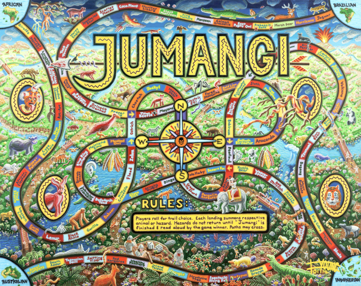 106 Jumangi 48x60 Jan 2014 acrylic on canvas - SOLD Robert Bukaty.jpg