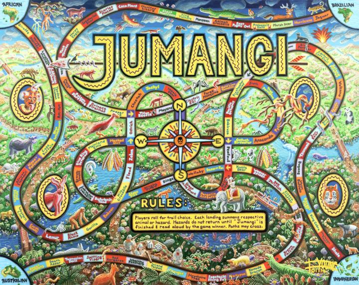 106 Jumangi 48x60 Jan 2014 acrylic on canvas - SOLD Robert Bukaty.jpg