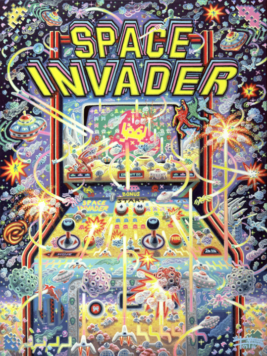 108 Space Invaders 40x30 July 2014 SOLD Josh Landy USA.jpg