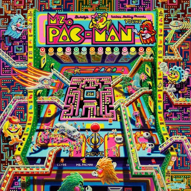 116 Mz Pac Man 40x40 Canvas May 2014 SOLD Robert Bukaty KS USA.jpg