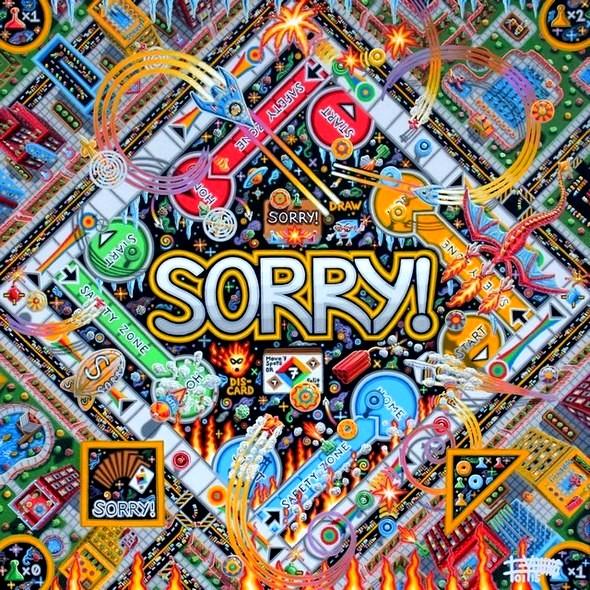 119-48x48-Jan 2015- acrylic painting-sorry-SOLD Jason Shepard USA BQ.jpg