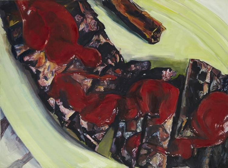 "Rib Plate  60"" x 44""  Oil on canvas"