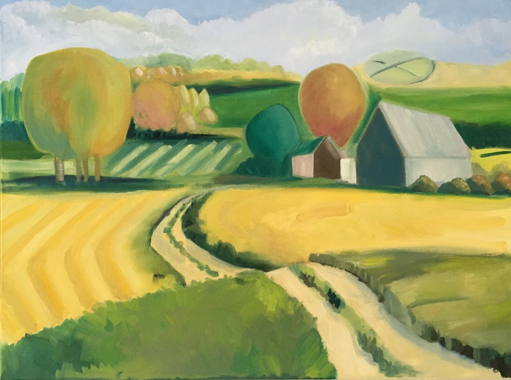 """Black Oak Road  24"""" x 18""""  Oil on Canvas"""