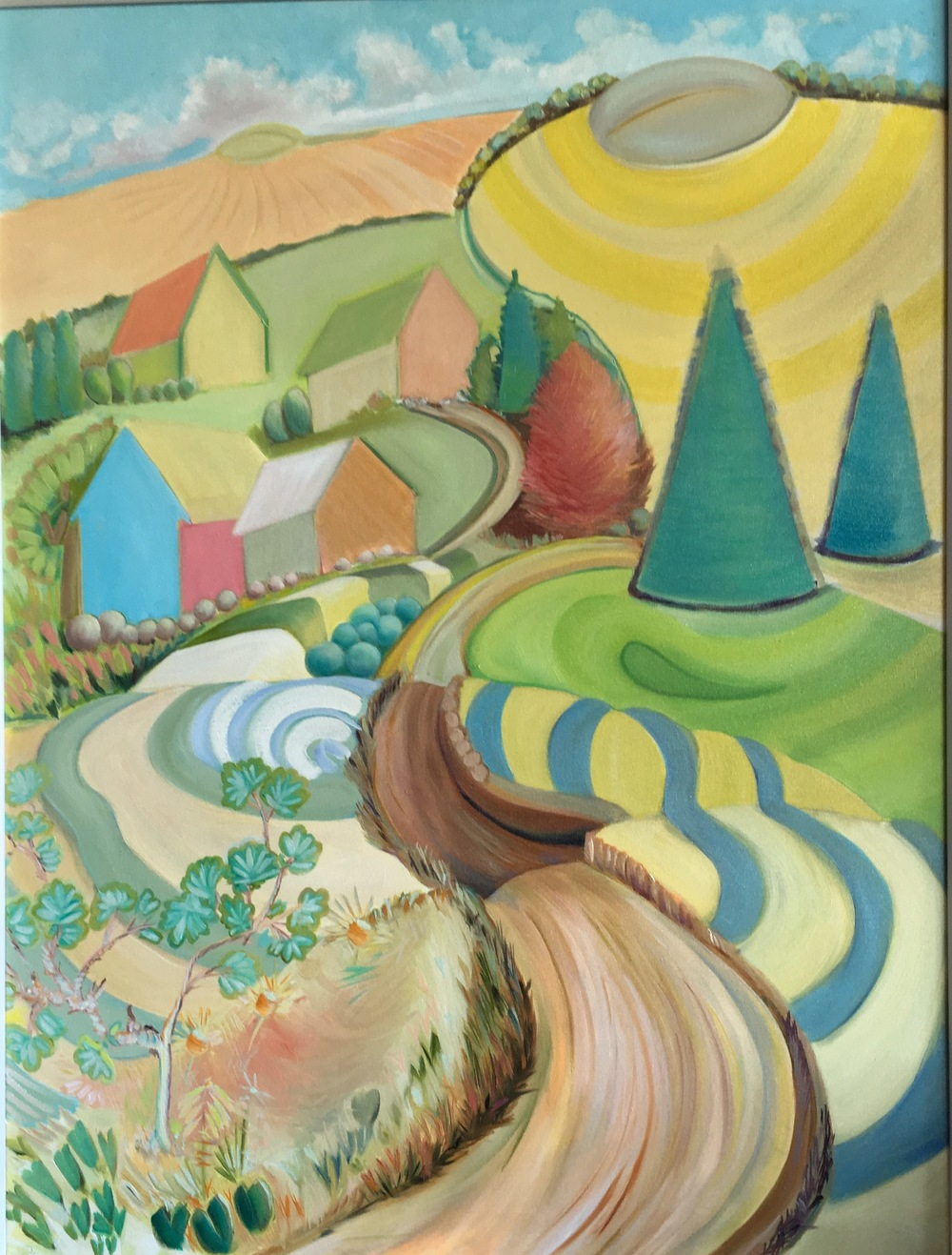 "Cedar Ridge Road  30"" x 40""  Oil on Canvas"