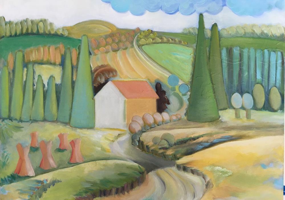 "Pleasant Hill  24"" x 18""  Oil on Canvas"